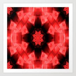 Red Poppy Star..... Art Print