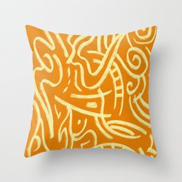 Nomadic Air Orange Abstract Pattern Throw Pillow