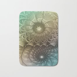 Togetherness, Fractal Art Abstract Bath Mat