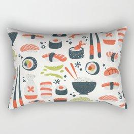Sushi Dreams – White Rectangular Pillow