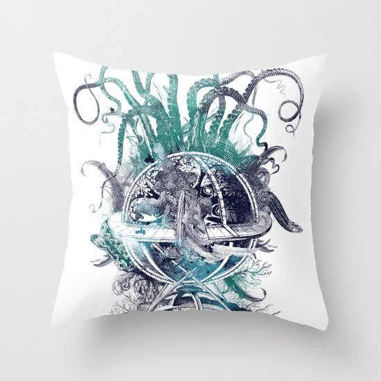 strange artefact amusement park Throw Pillow