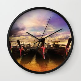 Sunset in PhiPhi Island. Wall Clock