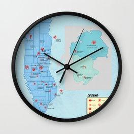 New York City- A Comic Book Tour Wall Clock