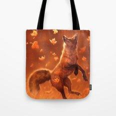 Jump Into Fall Tote Bag