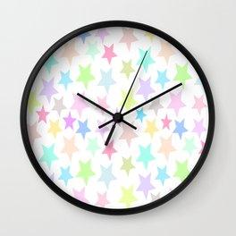 Pastel Stars Design Wall Clock