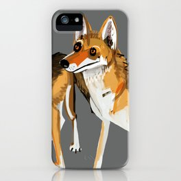 Senegalese Wolf in grey iPhone Case