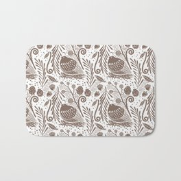 California Quail (Cocoa) Bath Mat