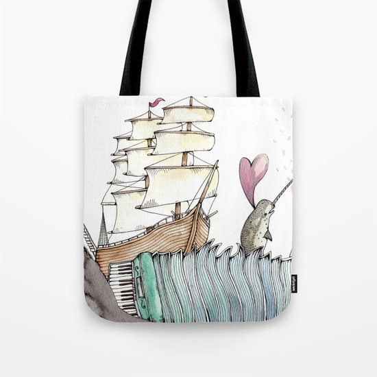 Accordion Sea Tote Bag