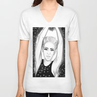 miley V-neck T-shirts featuring Miley by Marven RELOADED