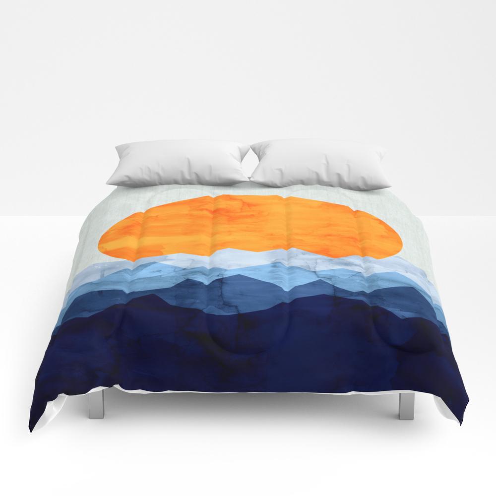 Vibrant Watercolor Landscape Comforter by Original7art CMF7715417
