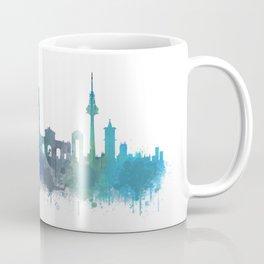 Madrid Spain city skyline watercolor art v03b UHD Coffee Mug