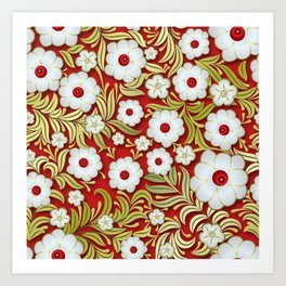 Art Flowers V3 Art Print