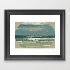 Sarah Kay - Ocean Quote Framed Art Print