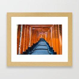 Fushimi Inari-taisha in Kyoto, Japan Framed Art Print