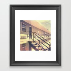 Hotel Polaroid Framed Art Print