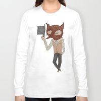 mr fox Long Sleeve T-shirts featuring Mr. Fox by black lab studio