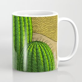 Cactus in the desert Coffee Mug