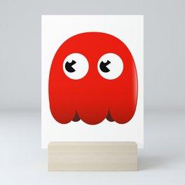 Retro red ghost Mini Art Print
