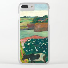 Paul Gauguin, Haystacks in Brittany, 1890 Clear iPhone Case