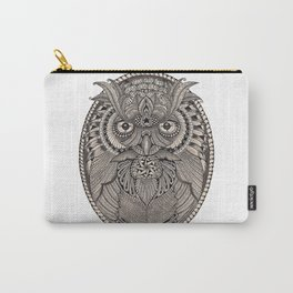 Tangled Great Horned Owl Carry-All Pouch