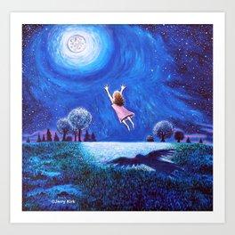 'Big Moon Hug' Art Print