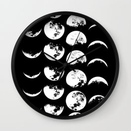 Moon Phases Magic. Wall Clock