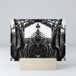 Cacti Garden Majorelle Marrakech Black and White Mini Art Print