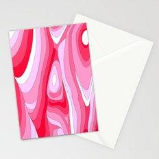 Pink Swirls Stationery Cards