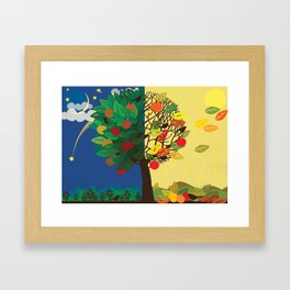 """Seasons"" Summer-Autumn Framed Art Print"