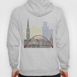 Newcastle skyline poster Hoody