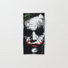 Heath Ledger - The Joker Abstract Movie Poster Design Hand & Bath Towel