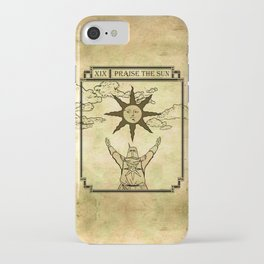 Praise The Sun - Tarot Solaire iPhone Case