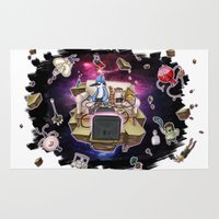 regular show Area & Throw Rugs featuring Regular Show lost in Universe by CarolaRT