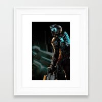 dead space Framed Art Prints featuring Dead Space  by JAGraphic