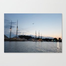 Picton Castle and Blue Nose II at Sunset Canvas Print