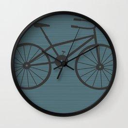 Grey Bike by Friztin Wall Clock