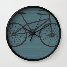 Grey Bike by Friztin Wall Clock