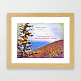 High Places Framed Art Print