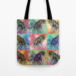 Cuttlefish Patchwork Tote Bag