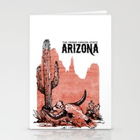 arizona Stationery Cards featuring Arizona by Krikoui