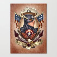 forever young Canvas Prints featuring FOREVER YOUNG by Tim Shumate