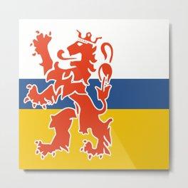 Flag of Dutch Limburg Metal Print