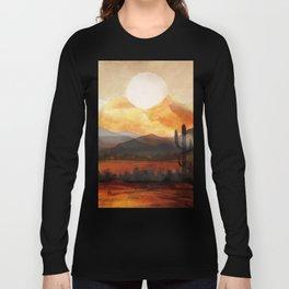 Desert in the Golden Sun Glow Long Sleeve T-shirt