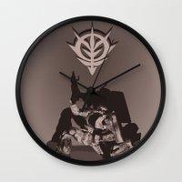gundam Wall Clocks featuring Zaku by Jason Weisbrot