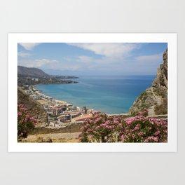 Cefalu view from La Roca Art Print