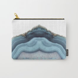Light Blue Agate Carry-All Pouch
