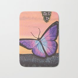 L'amour est un papillon Bath Mat