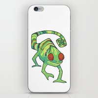 chameleon iPhone & iPod Skins featuring Chameleon by Suzanne Annaars