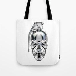 Skull grenade silver Tote Bag