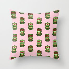 Chibi Raphael Ninja Turtle Throw Pillow
